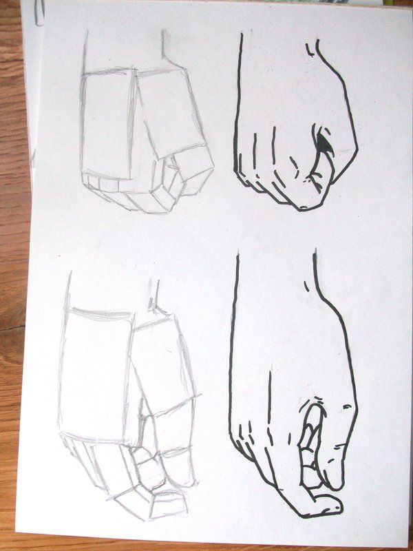 Drawn fist hand movement On Drawing on Pin Find