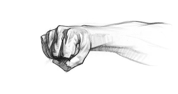 Drawn fist hand movement Lesson Fist to adding to