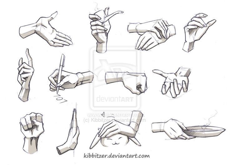 Drawn fist hand reference Best 2 by on Drawing: