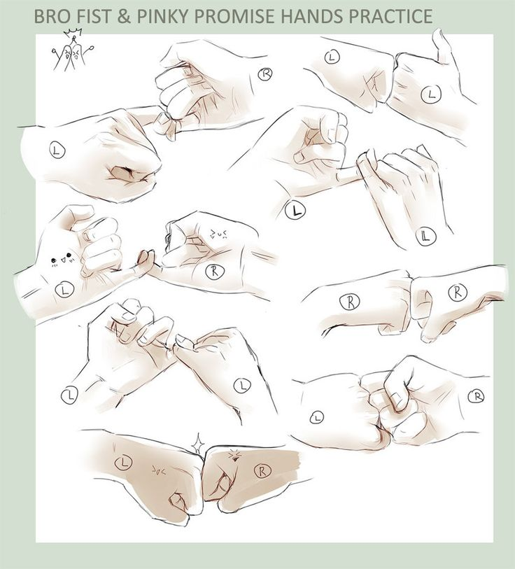 Drawn fist hand reference Best HANDS!  on images