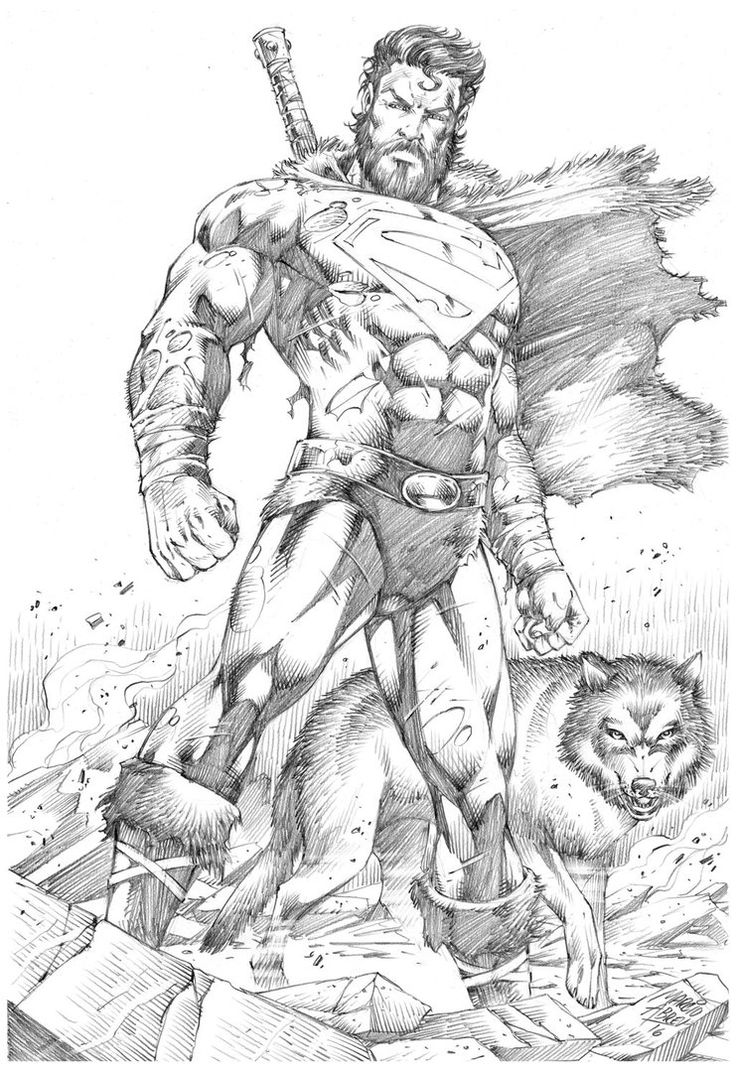 Drawn superman comic art Drawing Abreu Pinterest MARCIOABREU7 by