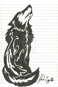 Drawn fist tribal Drawing Wolf Pinterest drawings Drawing