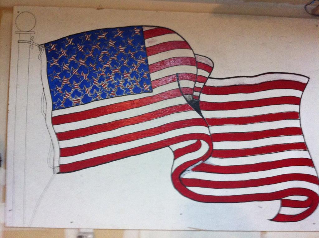 Drawn flag Drawn flag Hand  an