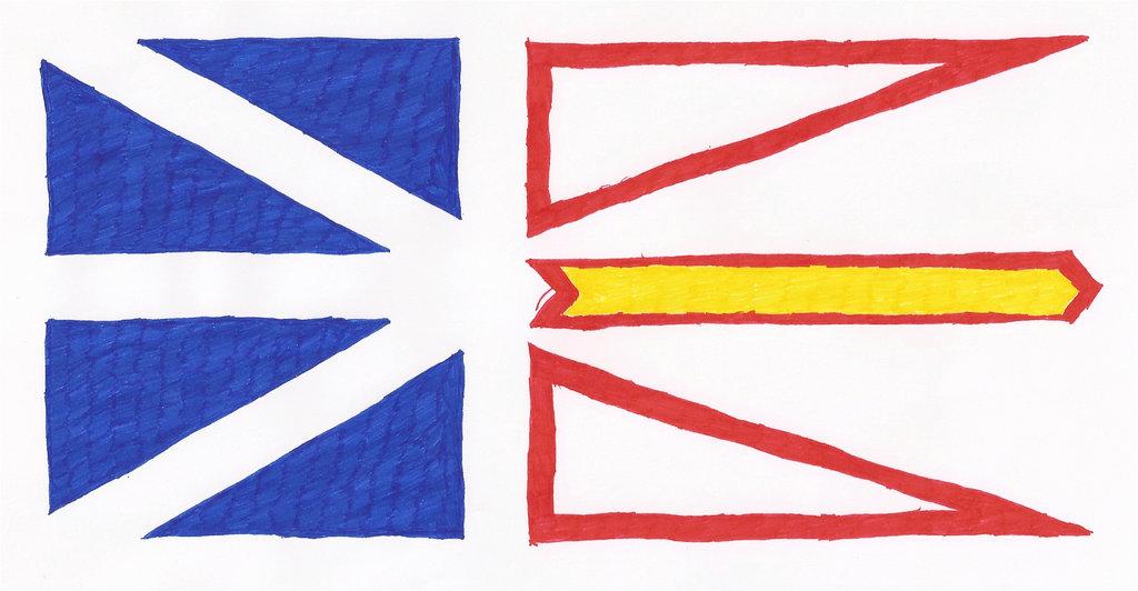 Drawn flag Newfoundland drawn flag Hand cool1097