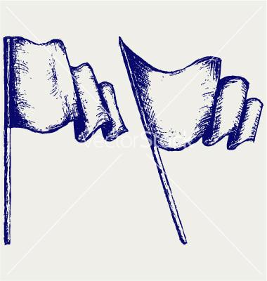 Drawn flag Flag Waving Flags vector Vectors