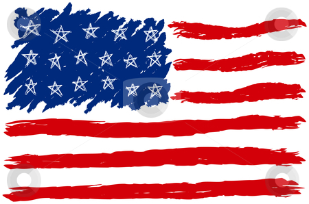American Flag clipart simple · 100772572 USA American USA
