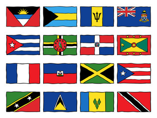 Drawn flag caribbean Drawn flag