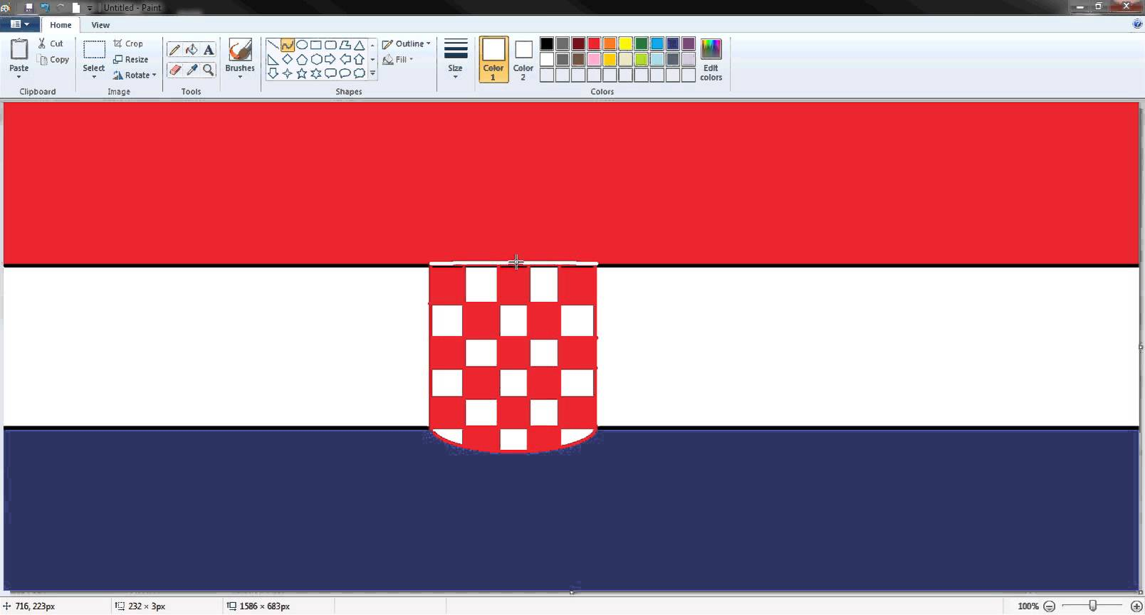 Drawn flag central europe In draw How the Croatian