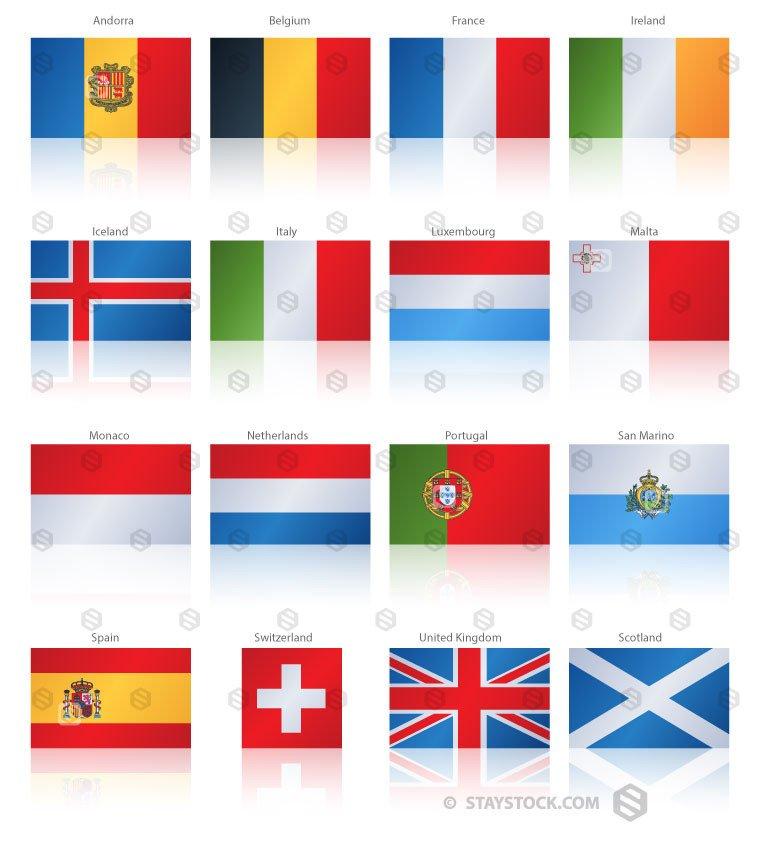 Drawn flag central europe Europe Popular Flag Western Popular