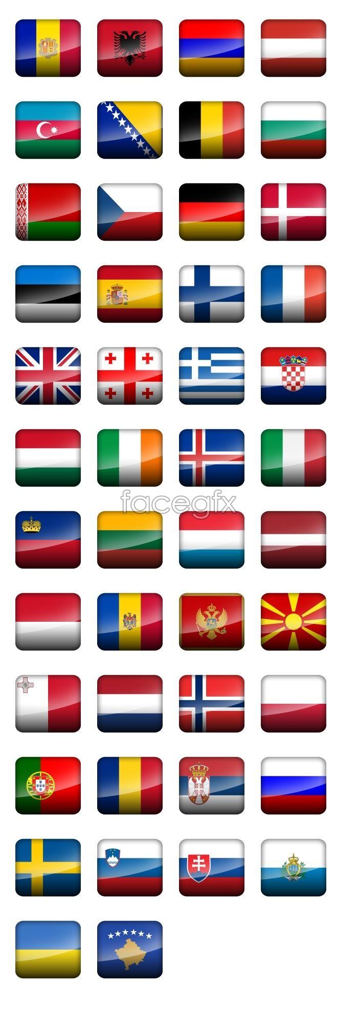 Drawn flag eu country Countries 210 on European flag