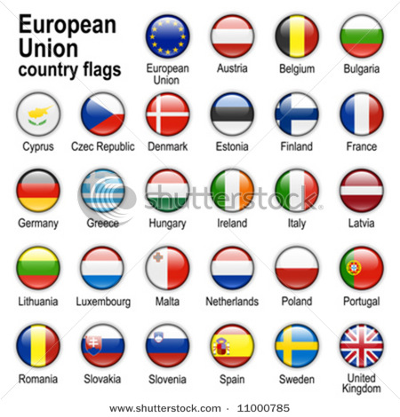 Drawn flag eu country Union of of countries Europese