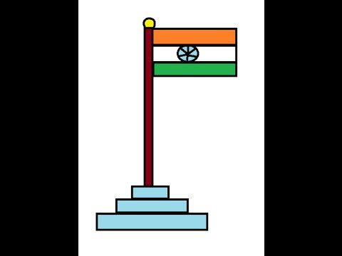 Drawn flag indian Indian make flag YouTube ms