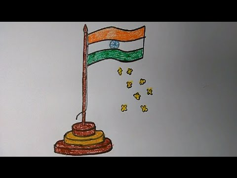 Drawn flag indian To draw draw YouTube by