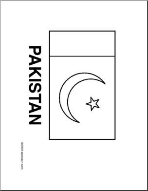 Pakistan clipart pencil sketch Flag Flag: to Pakistani color