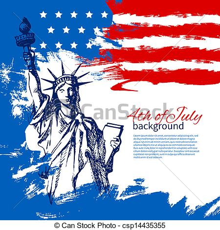 American Flag clipart independence day july 4th With Clipart July design background