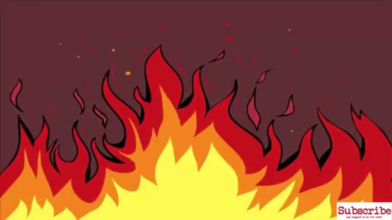 Drawn flames To Step by Draw Fire