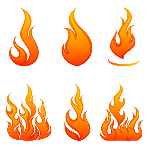 Flames clipart vector Flame Icons Vivid of Vector