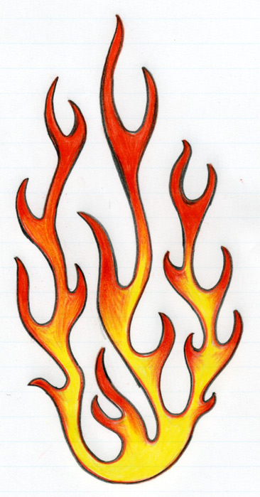 Drawn flame How To & Abstract Flames