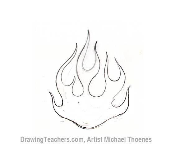 Drawn flame Flames  Draw to How