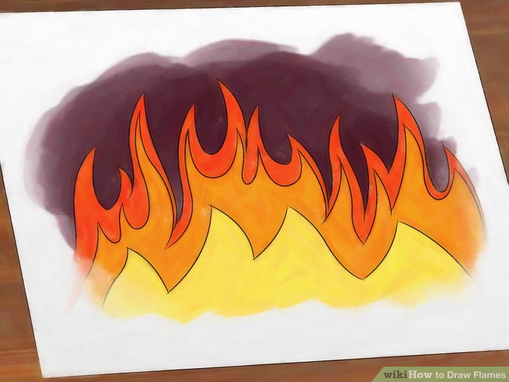 Drawn flames Flames: 7 wikiHow 14 Flames