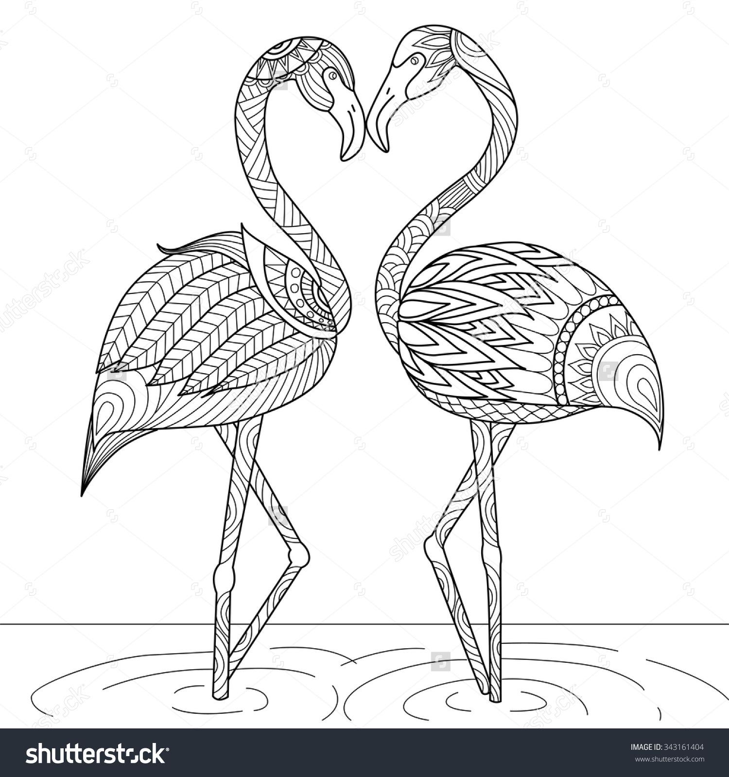 Drawn flamingo #6