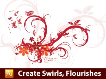 Drawn floral brush illustrator #14