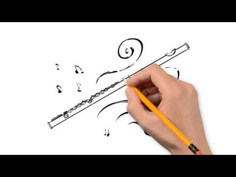 Drawn flute To by pencil step YouTube