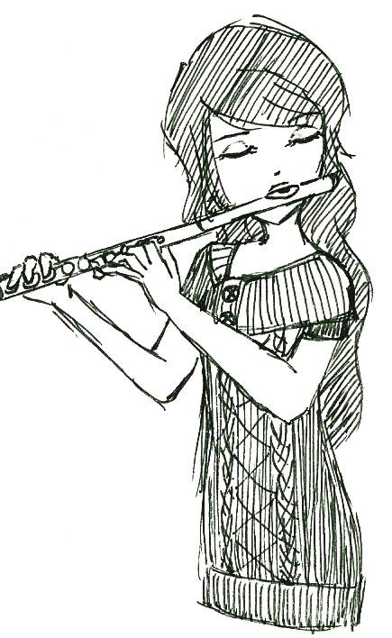 Drawn flute Snihplod Flute Girl Girl DeviantArt