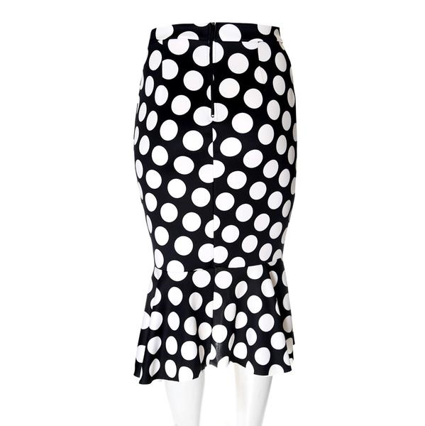 Drawn fluted  black and white Skirt Skirt  Shoppe Polka