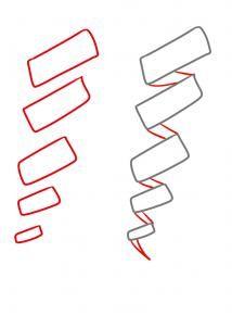 Drawn ribbon curl Hair Draw hair on How