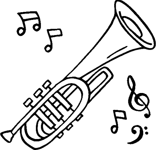 Drawn fluted  musical instrument App! delightful paintbrush of coloring