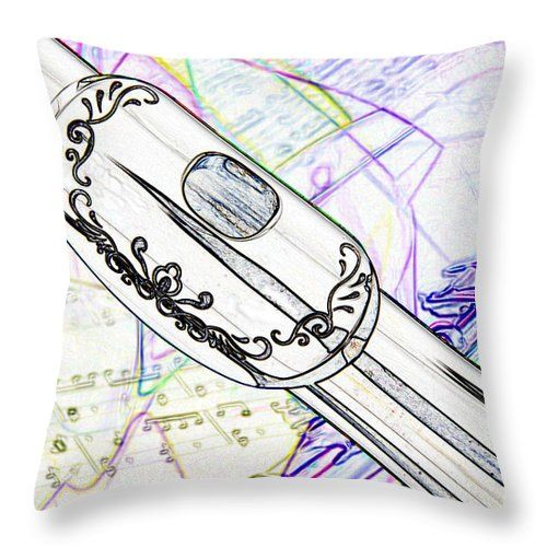 Drawn fluted  musical instrument Lip 03 Of In Pillow