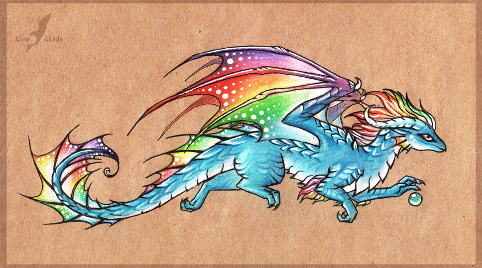 Drawn fluted  rainbow Rainbow+in+the+sky+ deviantart  +dragon+by+AlviaAlcedo Rainbow+in+the+sky+