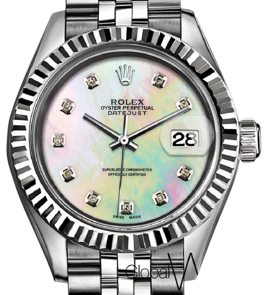 Drawn fluted  rainbow Pearl Datejust & 26MM Rolex
