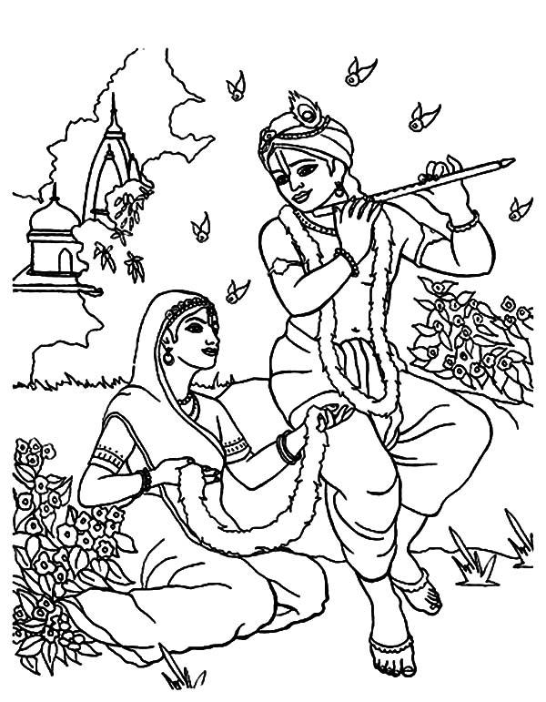 Drawn fluted  shree krishna Radha Krishna Pages Pages: