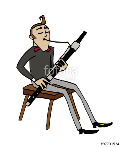 Drawn musical retro radio Clipart flute  flutist a