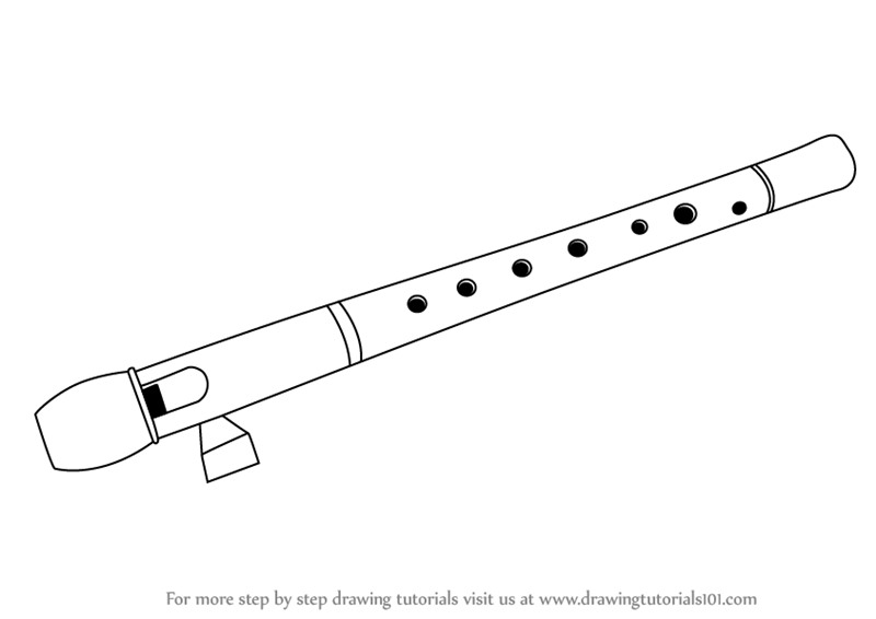 Drawn fluted  sketch Flute Flute Draw How How