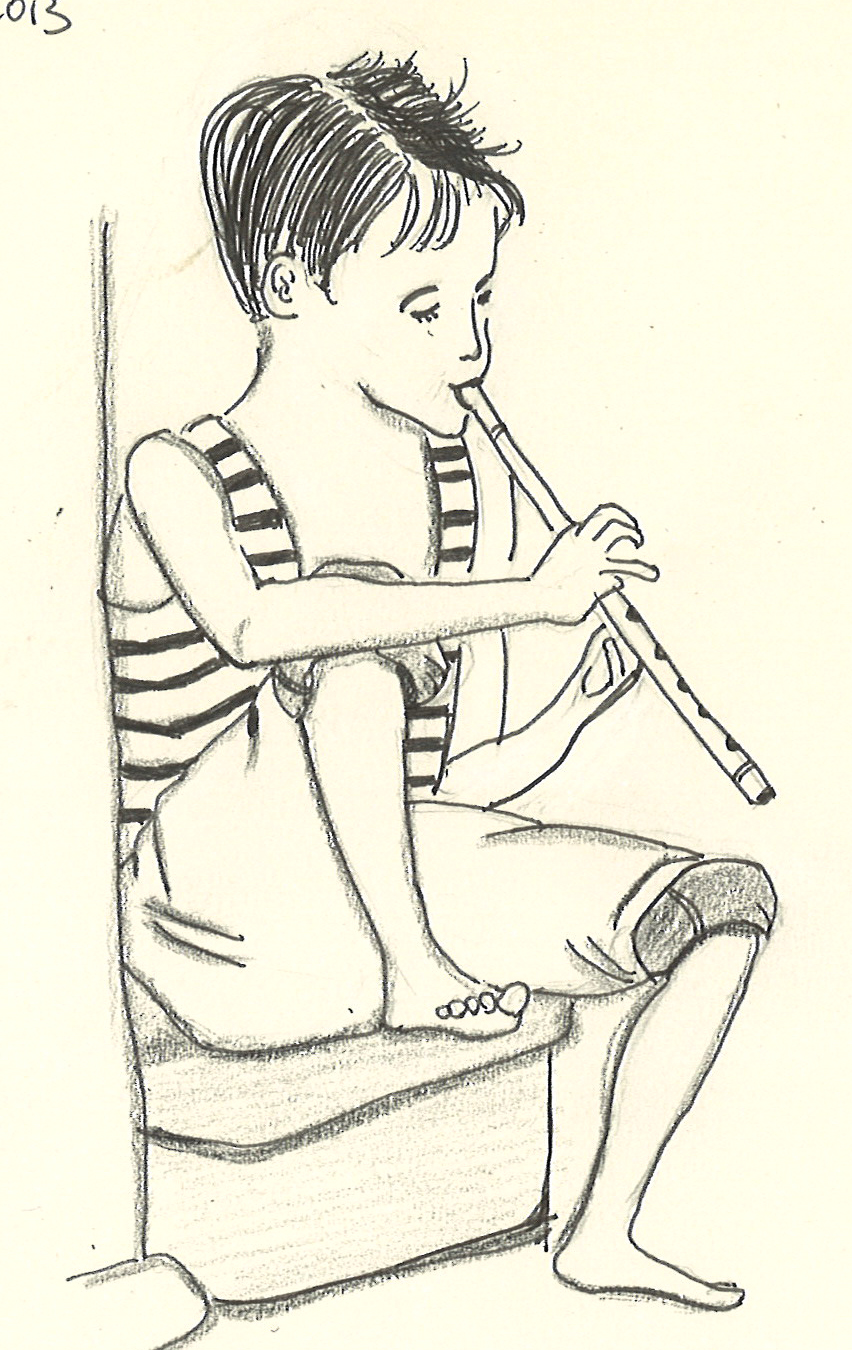 Drawn fluted  sketch Drawing lovely internet Flute I