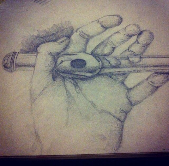 Drawn fluted  sketch Love hand holding draw Pencil