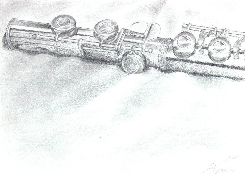 Drawn fluted  sketch By DeviantArt SpiritDreamsInside flute flute