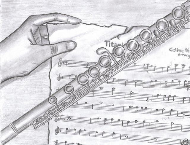 Drawn fluted  sketch Neat Flute stuff Flute Pinterest