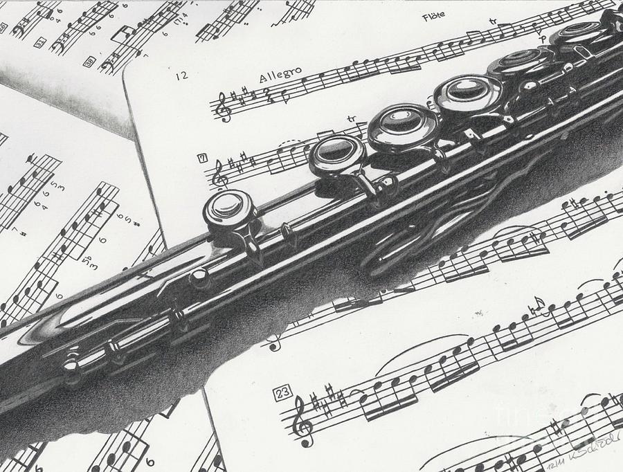 Drawn fluted  sketch Kerstin Schroeder Flute Flute Flute