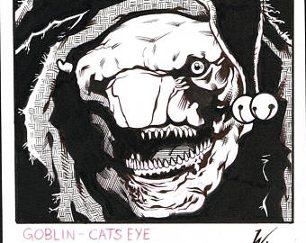 Drawn fly Goblin Of Villain A Eye