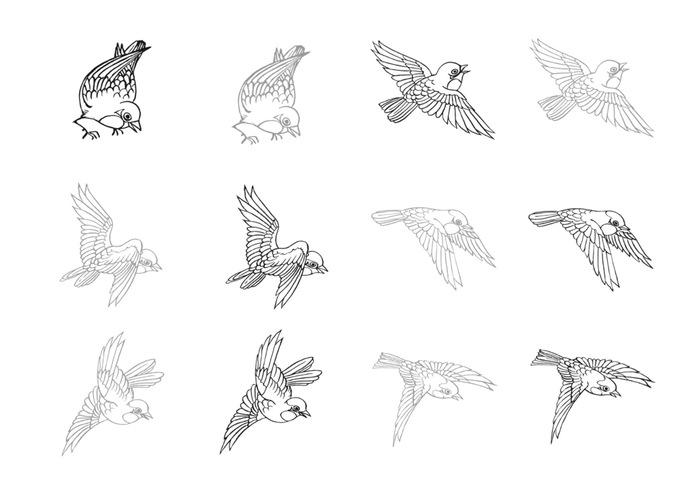 Drawn flying #3