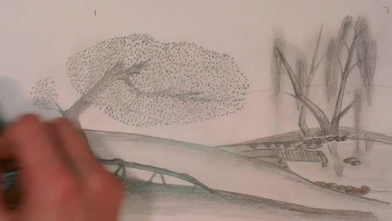 Drawn fog With Drawing a pencil foggy