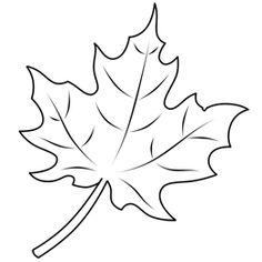 Drawn leaves simple Version Leaves Turkey Coloring Full