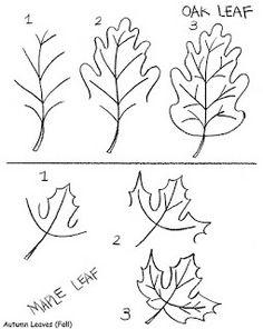 Drawn leaves simple Bobbie to leaf print: Rainy
