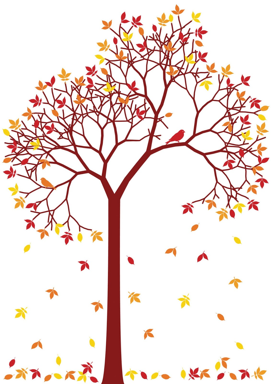 Branch clipart fall leaves Leaves Tree Crafthubs Leaf Fall