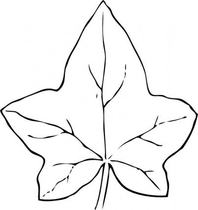 Leaves clipart leaf outline #12