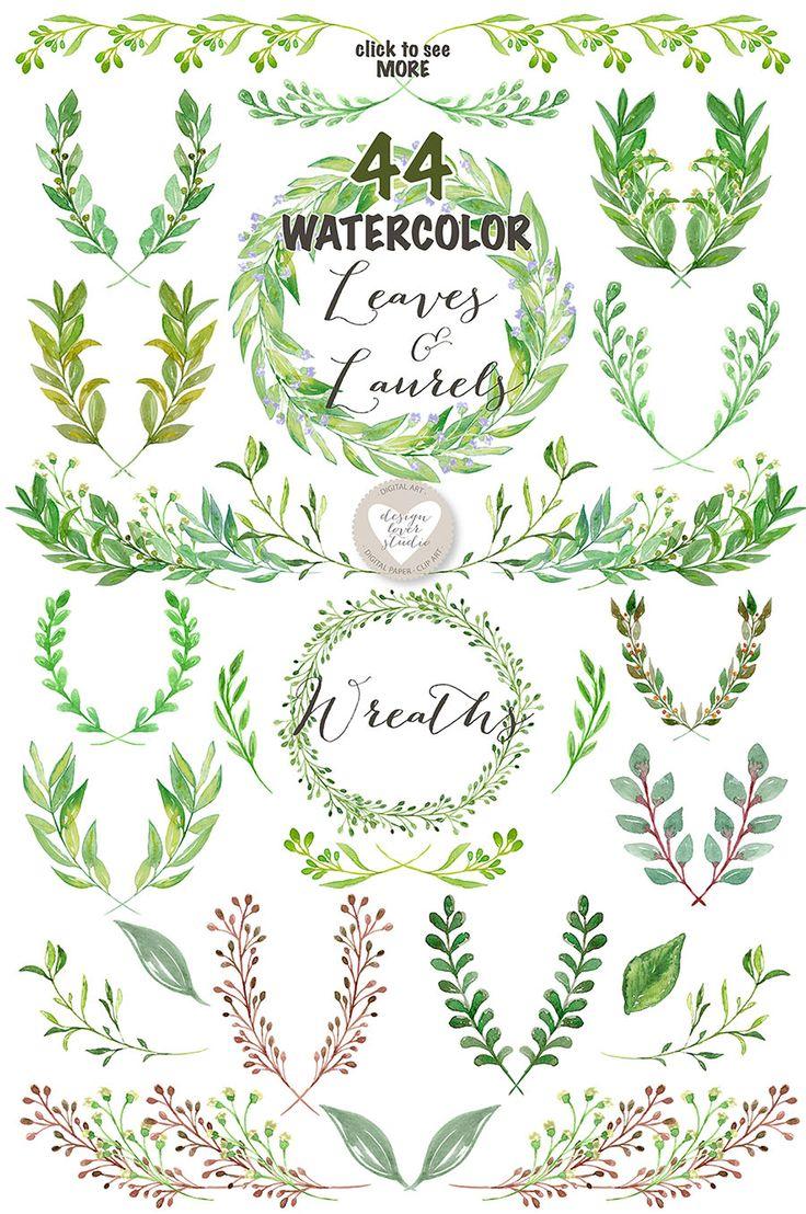 Drawn leaves detailed Leaves Best ideas Watercolor Pinterest